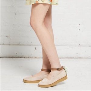 Timberland Paxton Hill Suede Ankle Strap Flats